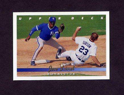 1993 Upper Deck Baseball #513 Jose Lind - Kansas City Royals