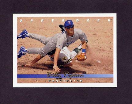 1993 Upper Deck Baseball #511 Billy Ripken - Texas Rangers