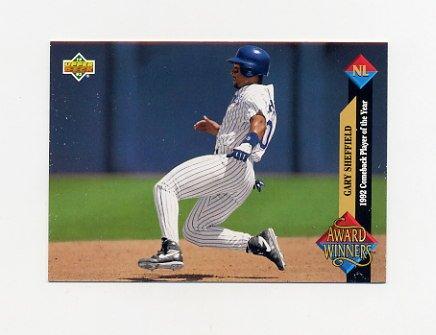 1993 Upper Deck Baseball #492 Gary Sheffield AW - San Diego Padres