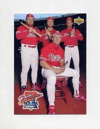 1993 Upper Deck Baseball #485 John Kruk / Dave Hollins / Darren Daulton / Lenny Dykstra - Phillies