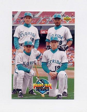 1993 Upper Deck Baseball #479 Dave Magadan / Orestes Destrade / Bret Barberie / Jeff Conine