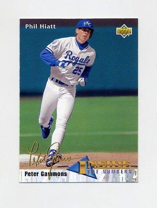 1993 Upper Deck Baseball #457 Phil Hiatt IN - Kansas City Royals