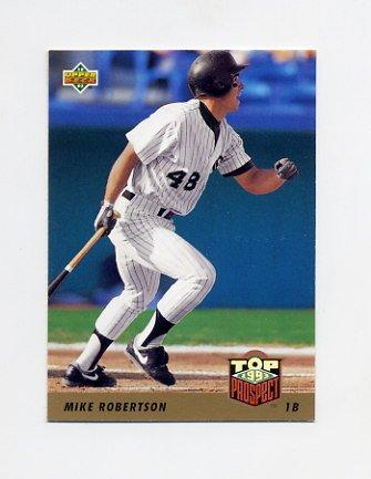 1993 Upper Deck Baseball #448 Mike Robertson - Chicago White Sox