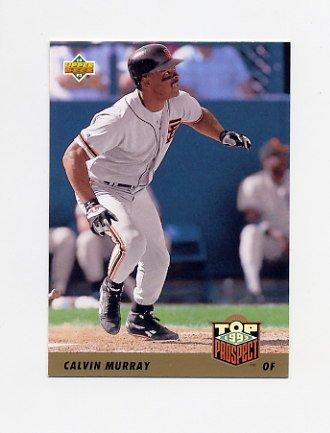 1993 Upper Deck Baseball #432 Calvin Murray - San Francisco Giants