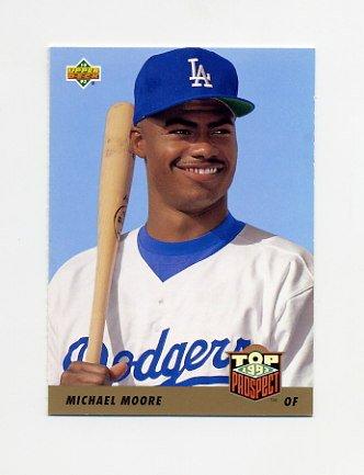 1993 Upper Deck Baseball #430 Michael Moore RC - Los Angeles Dodgers