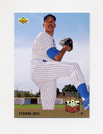 1993 Upper Deck Baseball #427 Tyrone Hill - Milwaukee Brewers