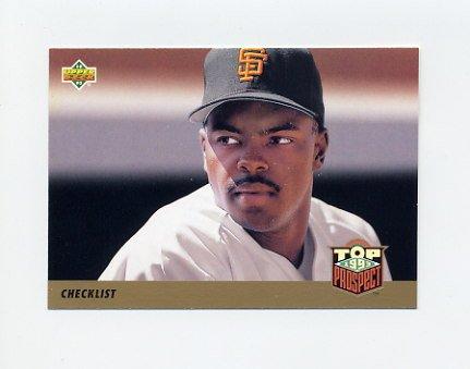 1993 Upper Deck Baseball #421 Calvin Murray / Checklist