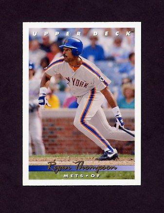 1993 Upper Deck Baseball #373 Ryan Thompson - New York Mets