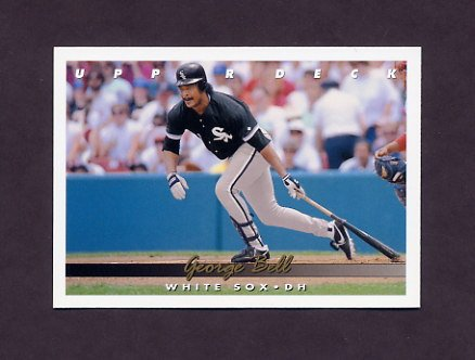 1993 Upper Deck Baseball #345 George Bell - Chicago White Sox