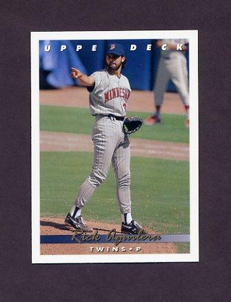 1993 Upper Deck Baseball #303 Rick Aguilera - Minnesota Twins