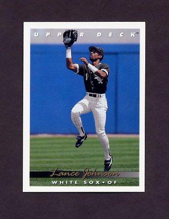 1993 Upper Deck Baseball #280 Lance Johnson - Chicago White Sox