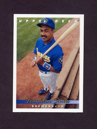 1993 Upper Deck Baseball #269 Franklin Stubbs - Milwaukee Brewers
