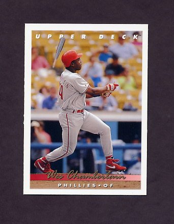 1993 Upper Deck Baseball #267 Wes Chamberlain - Philadelphia Phillies