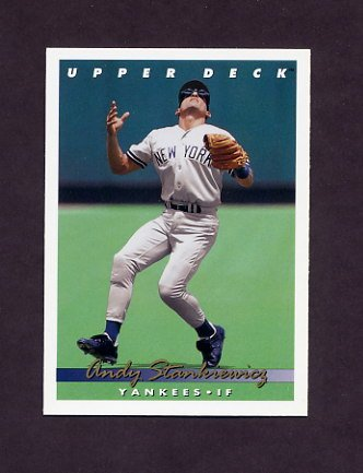 1993 Upper Deck Baseball #257 Andy Stankiewicz - New York Yankees