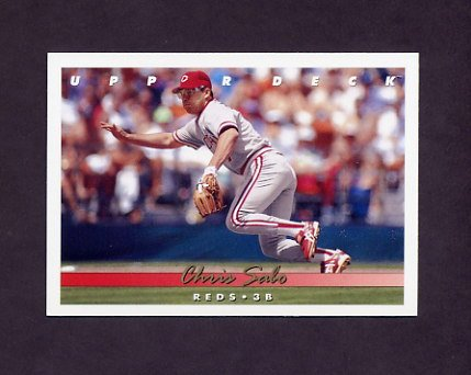 1993 Upper Deck Baseball #147 Chris Sabo - Cincinnati Reds