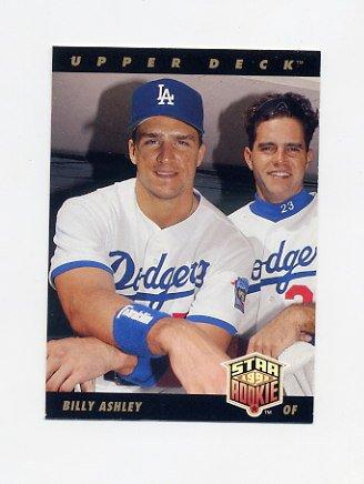 1993 Upper Deck Baseball #022 Billy Ashley - Los Angeles Dodgers