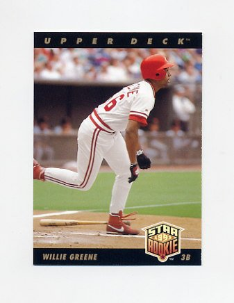 1993 Upper Deck Baseball #004 Willie Greene - Cincinnati Reds
