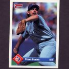 1993 Donruss Baseball #641 Todd Burns - Texas Rangers