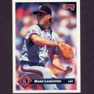 1993 Donruss Baseball #593 Mark Langston - California Angels