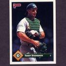 1993 Donruss Baseball #505 Terry Steinbach - Oakland A's