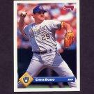 1993 Donruss Baseball #499 Chris Bosio - Milwaukee Brewers