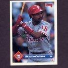 1993 Donruss Baseball #386 Braulio Castillo - Philadelphia Phillies