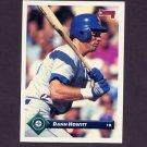 1993 Donruss Baseball #349 Dann Howitt - Seattle Mariners
