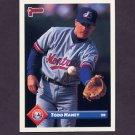 1993 Donruss Baseball #342 Todd Haney RC - Montreal Expos