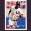 1993 Donruss Baseball #313 Roberto Kelly - New York Yankees