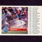 1993 Donruss Baseball #254 Checklist 160-238