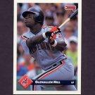 1993 Donruss Baseball #201 Glenallen Hill - Cleveland Indians