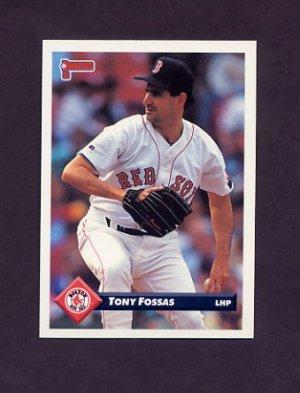 1993 Donruss Baseball 195 Tony Fossas Boston Red Sox