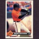 1993 Donruss Baseball #011 Manny Alexander - Baltimore Orioles