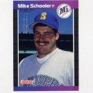 1989 Donruss Baseball #637 Mike Schooler - Seattle Mariners