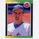 1989 Donruss Baseball #623 Keith A. Miller - New York Mets
