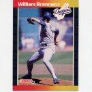 1989 Donruss Baseball #589 William Brennan - Los Angeles Dodgers