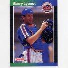 1989 Donruss Baseball #572 Barry Lyons - New York Mets