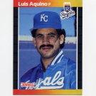 1989 Donruss Baseball #534 Luis Aquino - Kansas City Royals