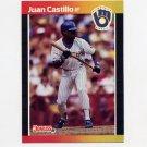 1989 Donruss Baseball #530 Juan Castillo - Milwaukee Brewers