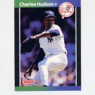 1989 Donruss Baseball #514 Charles Hudson - New York Yankees