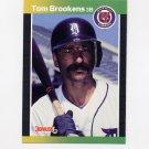1989 Donruss Baseball #508 Tom Brookens - Detroit Tigers
