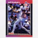 1989 Donruss Baseball #496 Jeff Kunkel - Texas Rangers