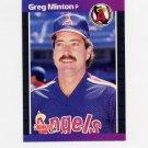 1989 Donruss Baseball #490 Greg Minton - California Angels