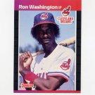 1989 Donruss Baseball #468 Ron Washington - Cleveland Indians