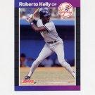 1989 Donruss Baseball #433 Roberto Kelly - New York Yankees