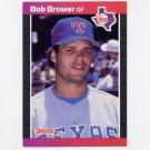 1989 Donruss Baseball #411 Bob Brower - Texas Rangers