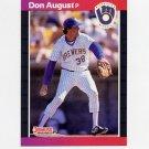 1989 Donruss Baseball #410 Don August - Milwaukee Brewers