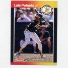 1989 Donruss Baseball #386 Luis Polonia - Oakland A's