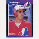 1989 Donruss Baseball #342 Tom Foley - Montreal Expos