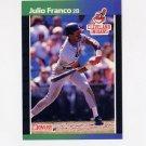 1989 Donruss Baseball #310 Julio Franco - Cleveland Indians